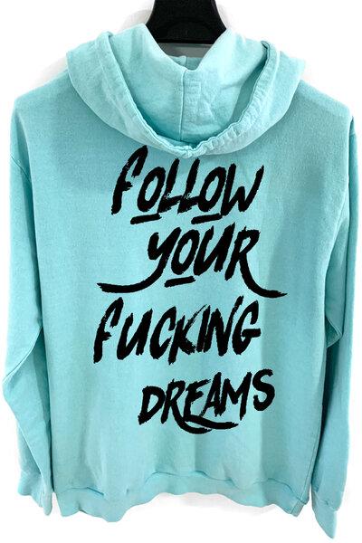 Blusa de moletom estonado azul Dreams