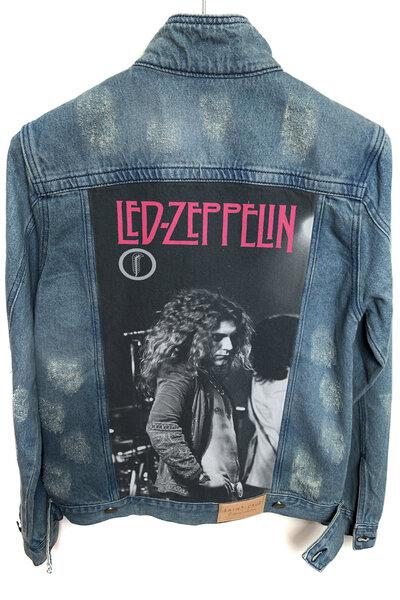 Jaqueta Jeans Destroyed Tradicional Masculina Robert Plant