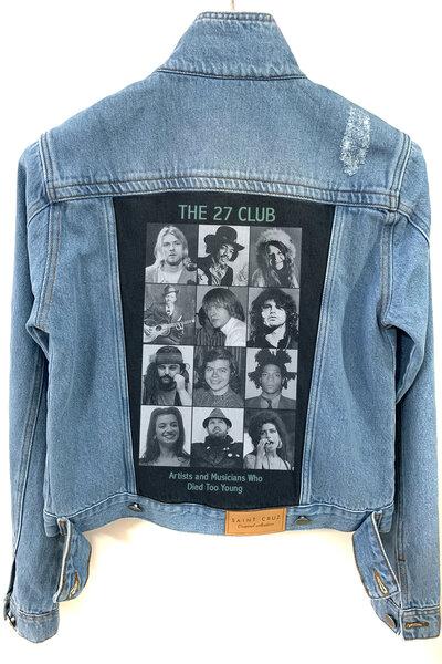 Jaqueta Jeans Destroyed Tradicional Feminina Club 27