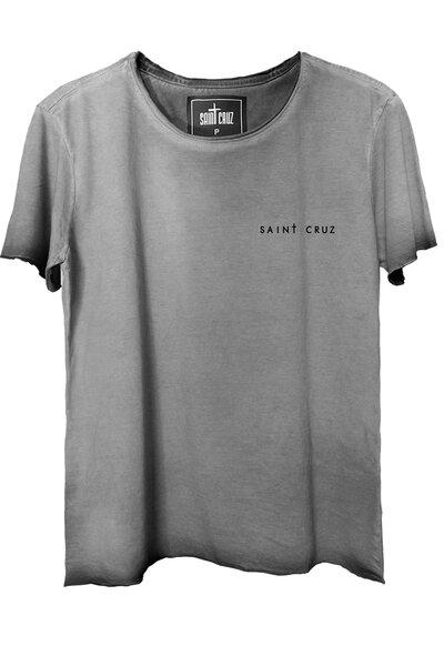 Camiseta estonada cinza Abstract Black Rose