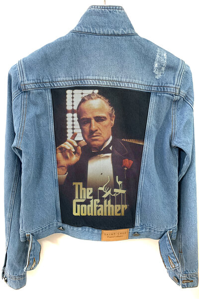 Jaqueta Jeans Destroyed Tradicional Feminina The Godfather