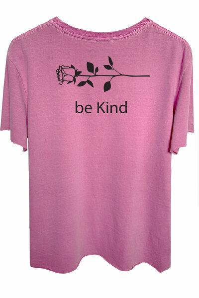 Camiseta estonada vinho Be Kind