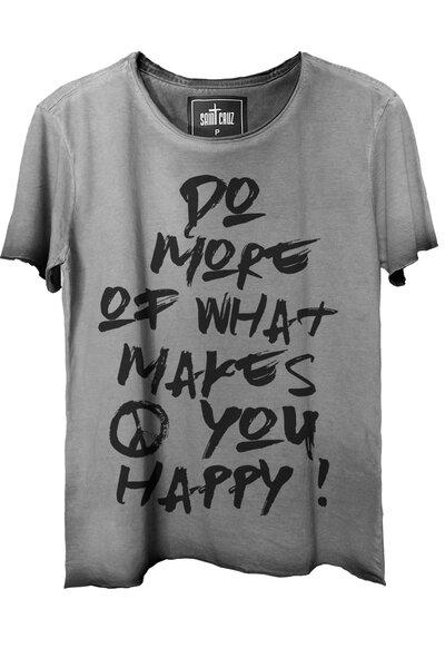 Camiseta estonada cinza Do More (Front)