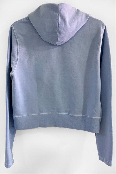 Blusa de moletom estonado azul Feminino Never Die