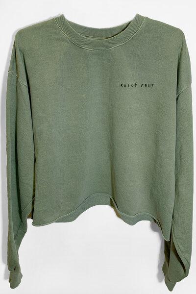 Cropped de moletom estonado verde Dreams (Back)