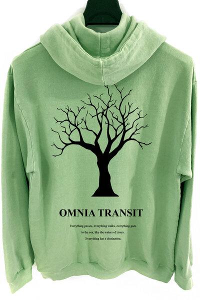 Blusa de moletom estonado verde Omnia Transit