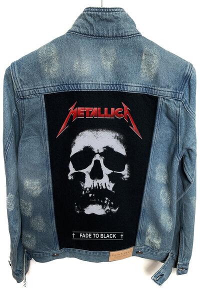 Jaqueta Jeans Rock Destroyed Tradicional Masculina Metallica