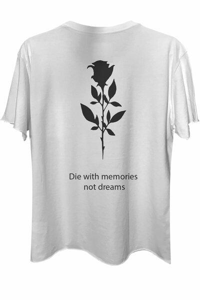 Camiseta com bolso branca Memories