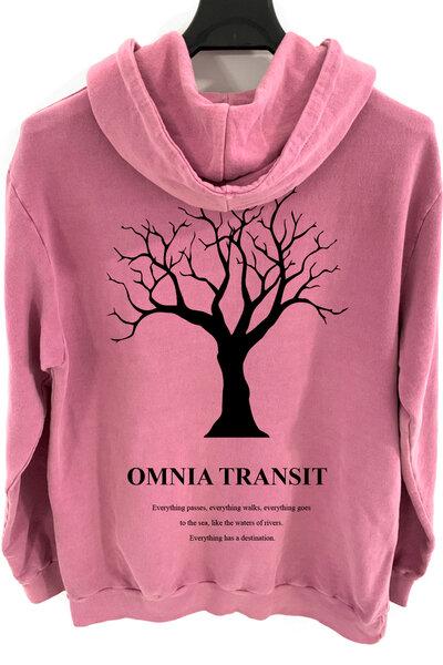 Blusa de moletom estonado vinho Omnia Transit