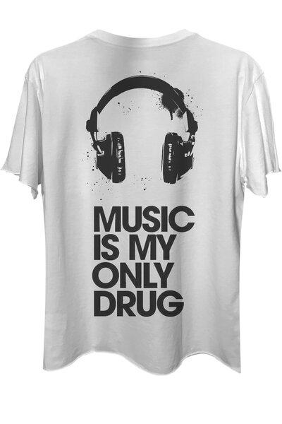 Camiseta com bolso branca Drug