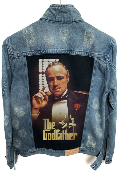Jaqueta Jeans Destroyed Tradicional Masculina The Godfather