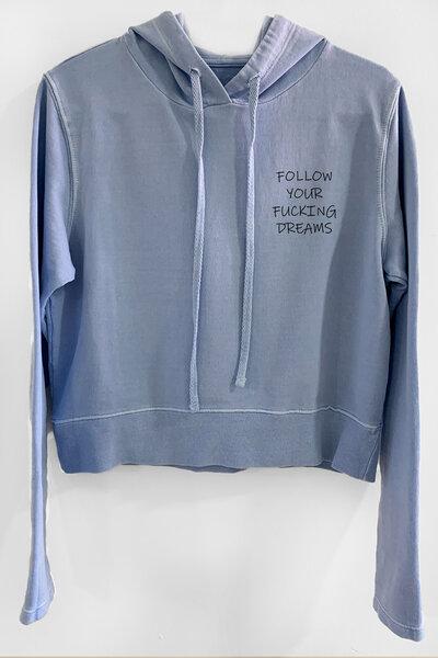 Blusa de moletom estonado azul Feminino Dreams (Front)