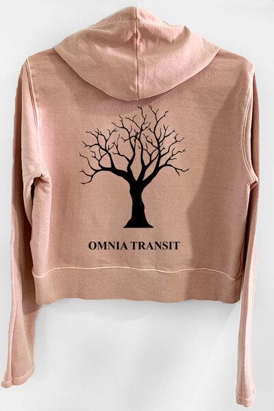 Blusa de moletom estonado rose Feminino Omnia Transit