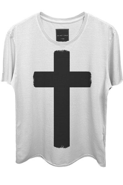 Camiseta branca Crucifix