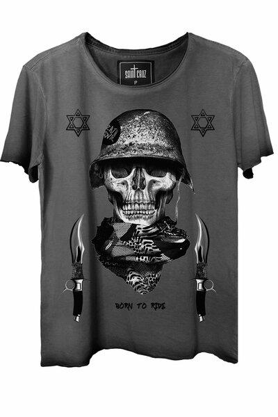 Camiseta estonada cinza Soldier