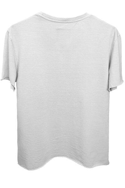 Camiseta branca Never Die (Rosa)