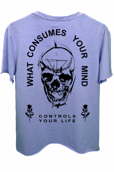 Camiseta estonada lilás Controls