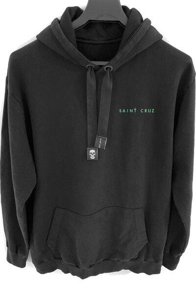 Blusa de moletom preto Alone (Estampa verde água)