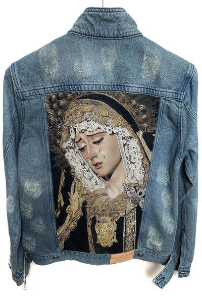 Jaqueta Jeans Destroyed Tradicional Masculina Saint