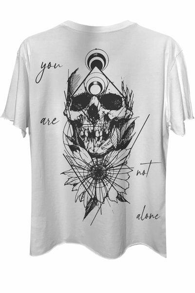 Camiseta com bolso branca Alone