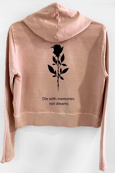 Blusa de moletom estonado rose Feminino Memories