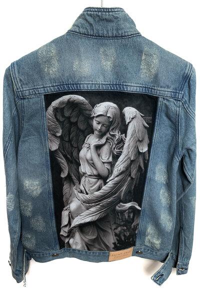 Jaqueta Jeans Destroyed Tradicional Masculina Angel