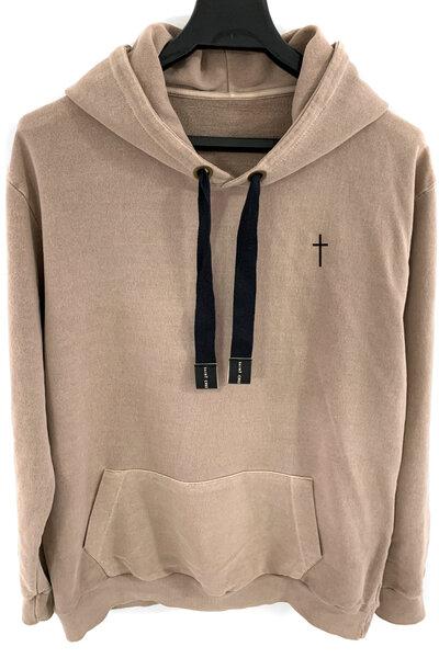Blusa de moletom estonado castanho Cross