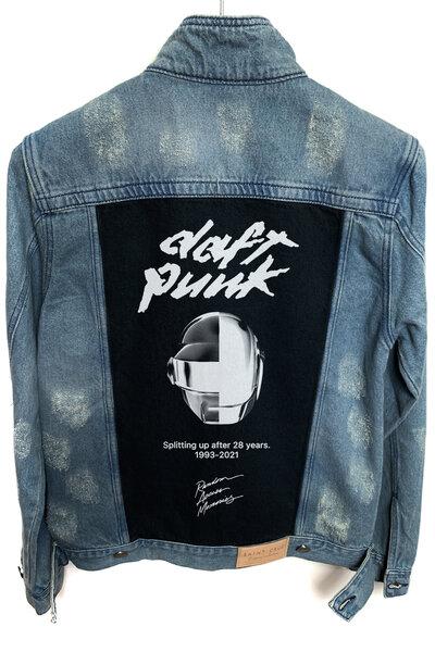 Jaqueta Jeans Destroyed Tradicional Masculina Daft Punk