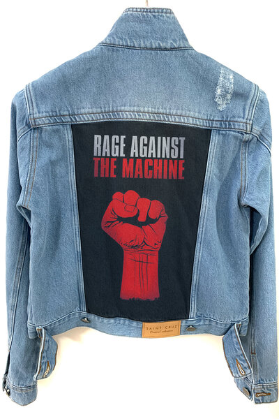 Jaqueta Jeans Destroyed Tradicional Feminina Rage Against