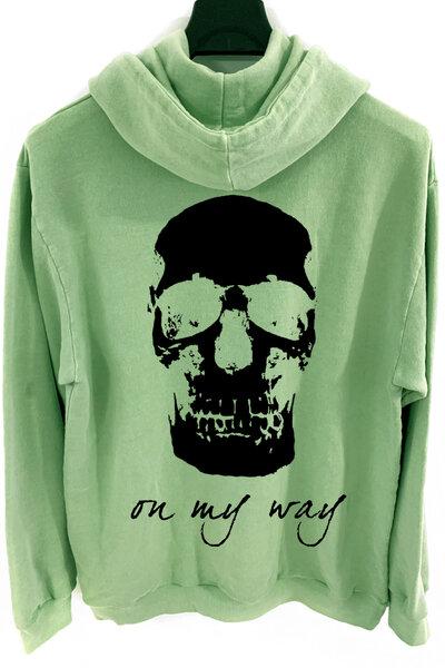 Blusa de moletom estonado verde On My Way