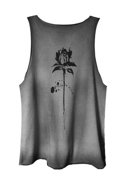 Regata estonada cinza Abstract Black Rose