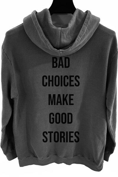 Blusa de moletom estonado chumbo Bad Choices
