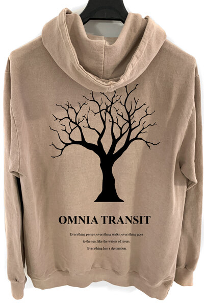 Blusa de moletom estonado castanho Omnia Transit