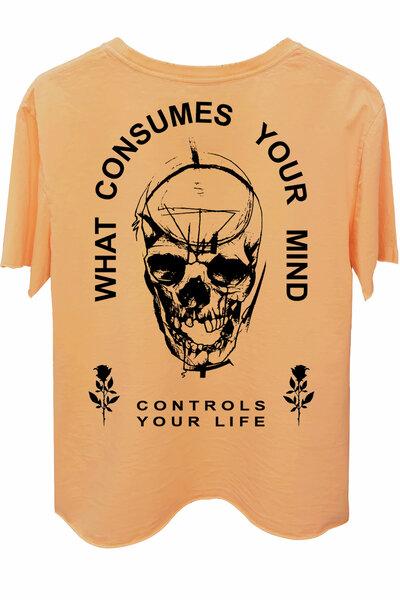 Camiseta estonada salmão Controls
