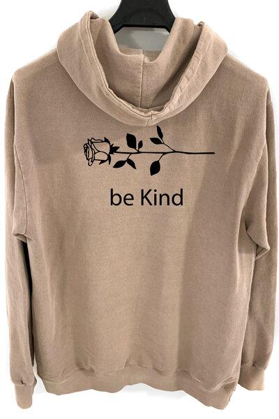 Blusa de moletom estonado castanho Be Kind