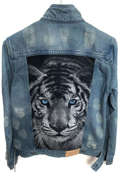Jaqueta Jeans Destroyed Tradicional Masculina Tiger
