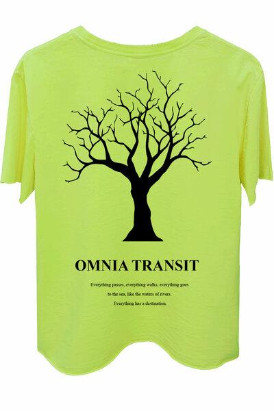 Camiseta estonada amarela Omnia Transit