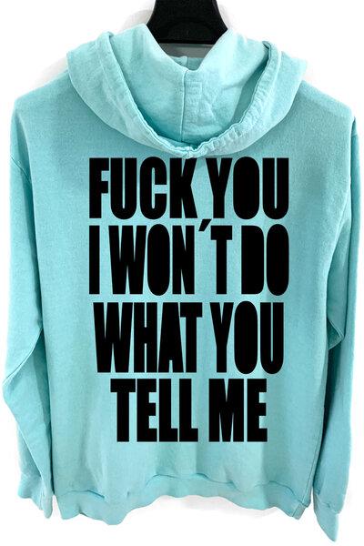 Blusa de moletom estonado azul Tell Me