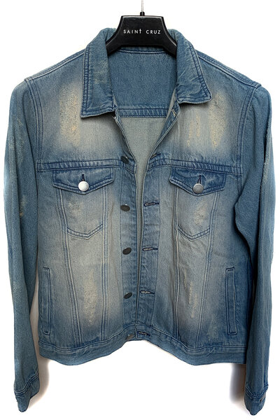Jaqueta Jeans Destroyed Tradicional Masculina Pink Floyd