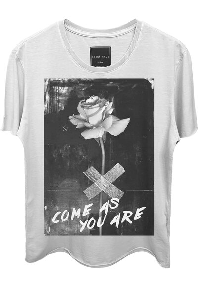 Camiseta branca One Rose