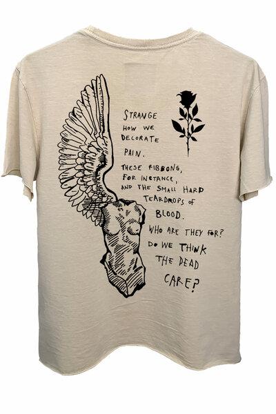 Camiseta estonada areia Strange