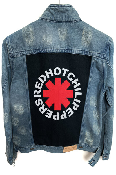 Jaqueta Jeans Destroyed Tradicional Masculina Red Hot
