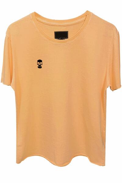 Camiseta estonada salmão Skull