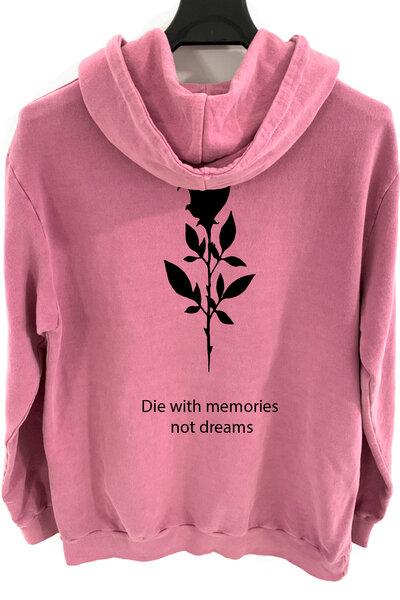 Blusa de moletom estonado vinho Memories
