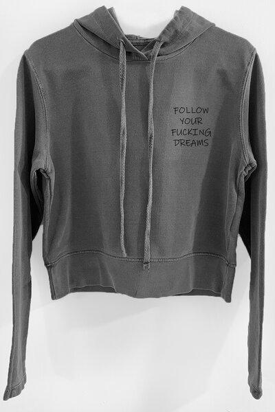 Blusa de moletom estonado chumbo Feminino Dreams (Front)