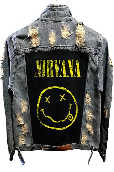 Jaqueta Jeans Destroyed Tradicional Nirvana