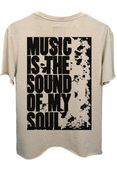 Camiseta estonada areia My soul