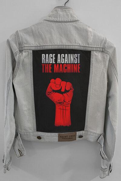 Jaqueta Jeans Rock Destroyed Cru Feminina Rage Against