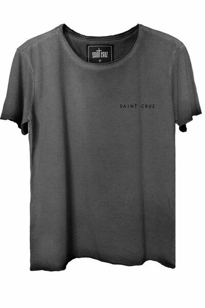 Camiseta estonada cinza Enjoy