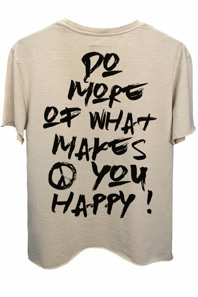 Camiseta estonada areia Do More (Back)